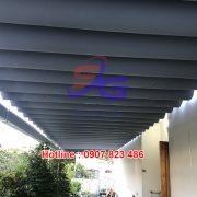 Lắp bạt mái xếp lượn sóng tại HCM